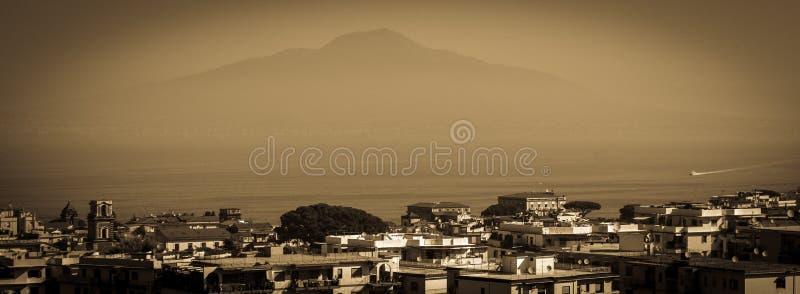 Volcano View van Sorrento Italië stock afbeeldingen