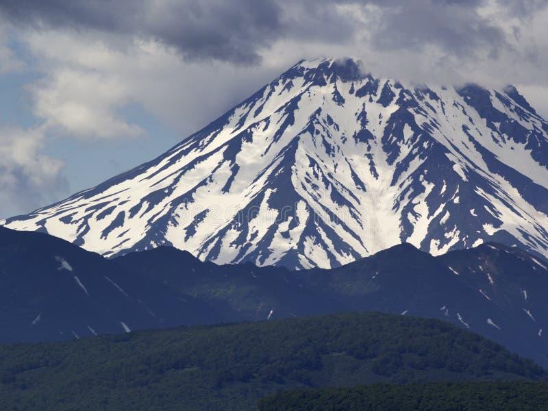 Volcano Vilyuchinsky Kamchatka Ryssland royaltyfria bilder