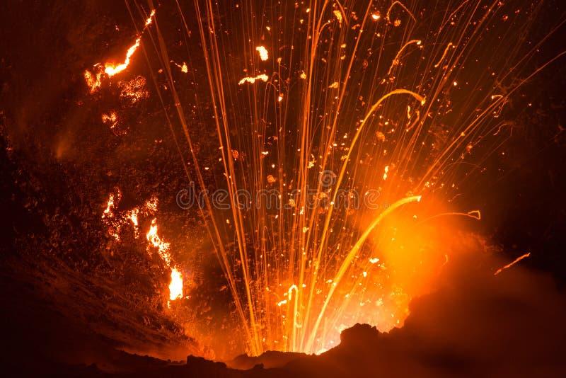 Volcano Yasur Eruption fotografia de stock royalty free