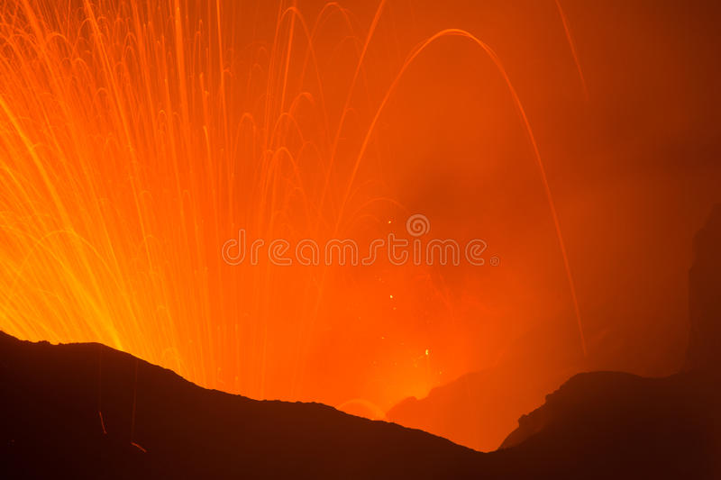 Volcano Yasur Eruption immagini stock