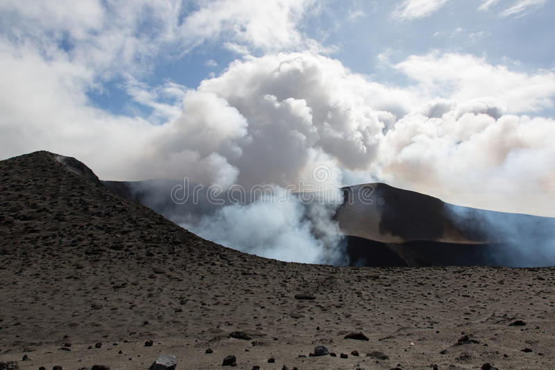 Volcano Yasur Eruption foto de stock royalty free
