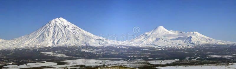 Volcanoes of Kamchatka Peninsula. stock photography