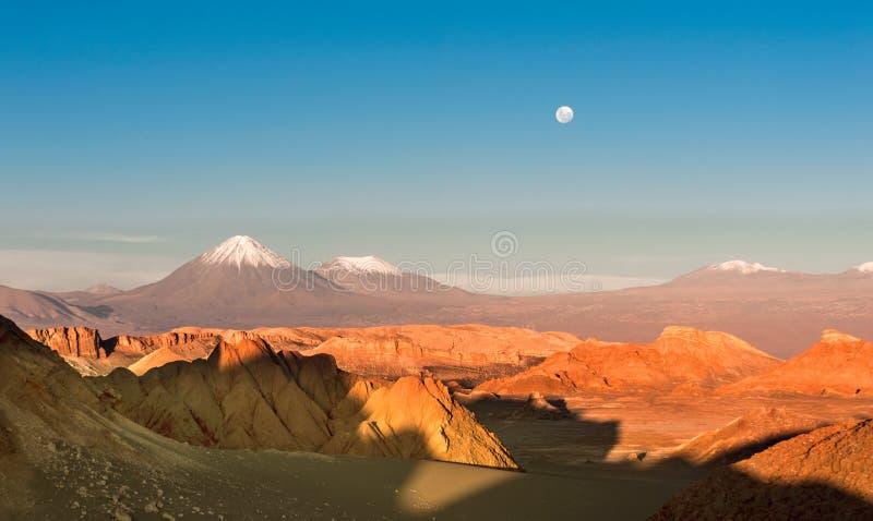 Volcanoes Licancabur and Juriques, Atacama stock photography