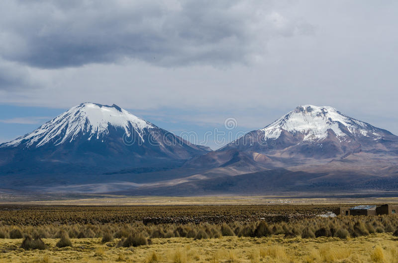 Volcans photographie stock