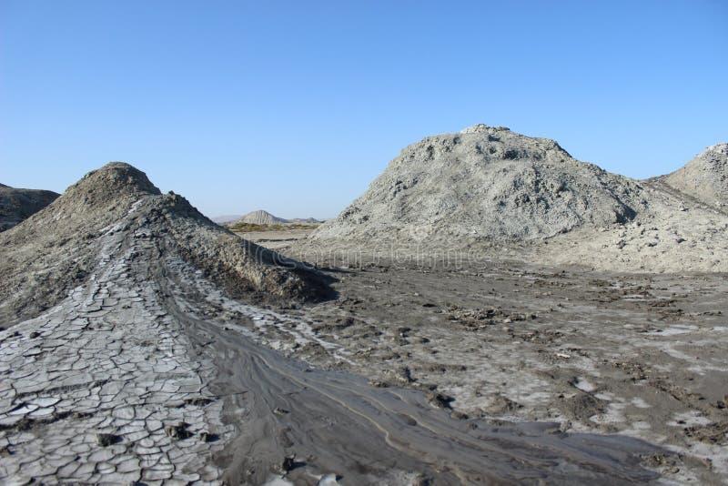 Volcans de boue de Qobustan photo stock