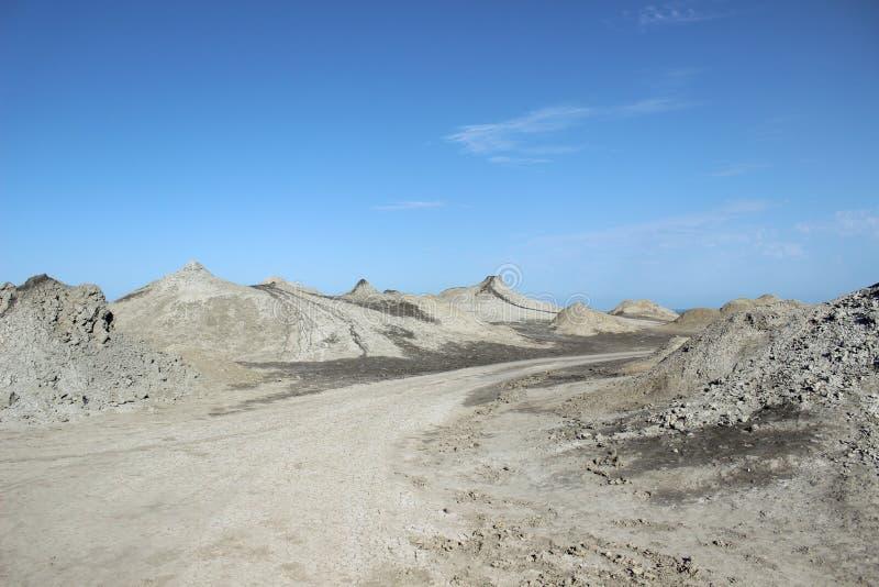 Volcans de boue de Qobustan images libres de droits