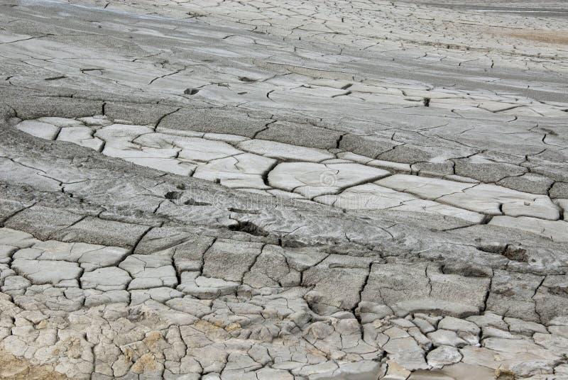 Volcans de boue - texture et éruption - la Roumanie, Buzau, Berca image stock