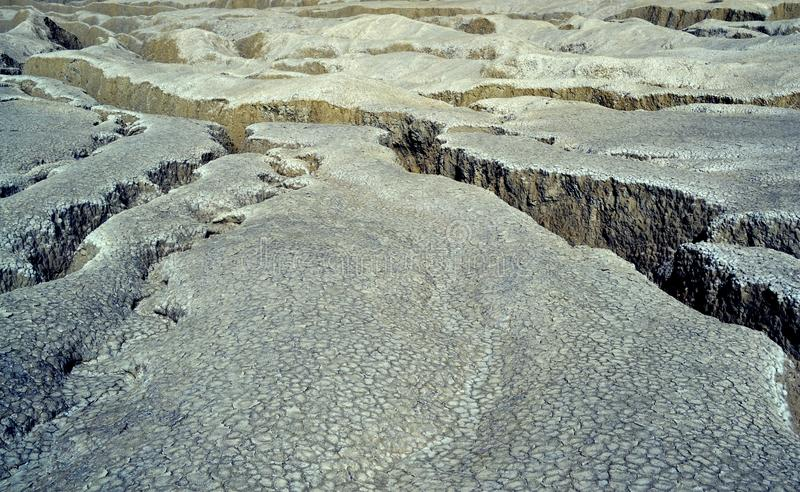 volcans de la Roumanie de boue photographie stock libre de droits