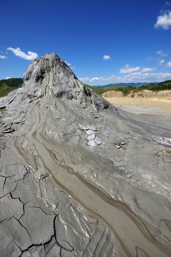 Volcans Roumanie de boue de Berca image stock