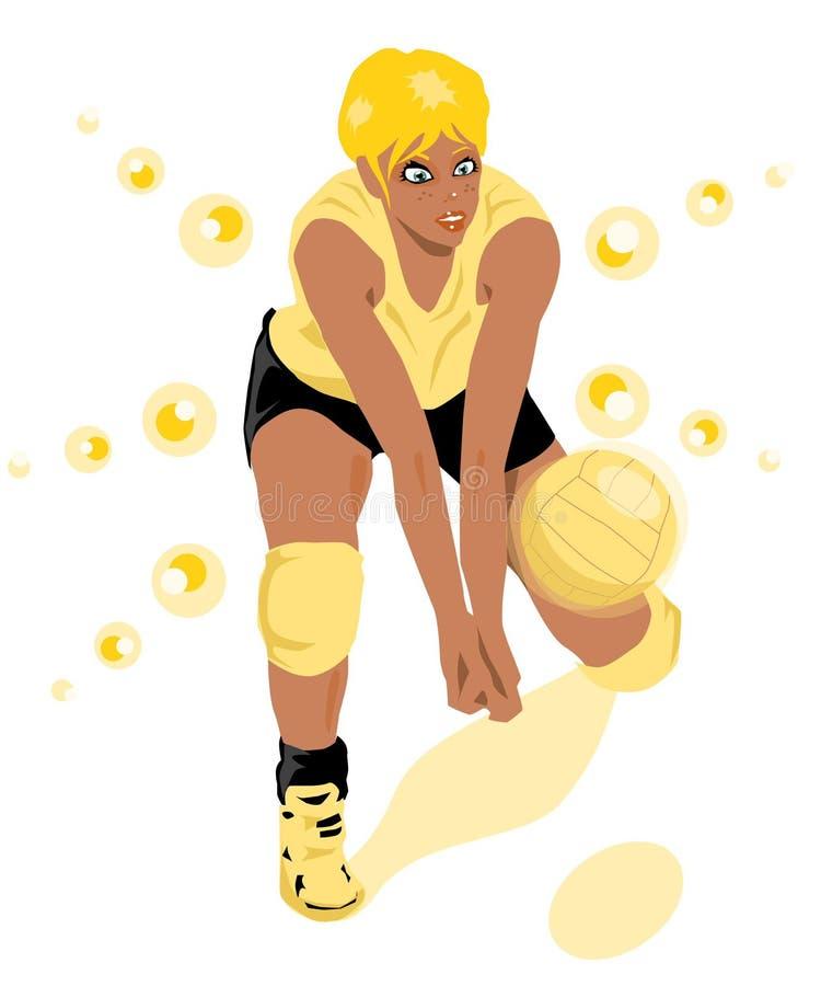 Voleibol ilustración del vector