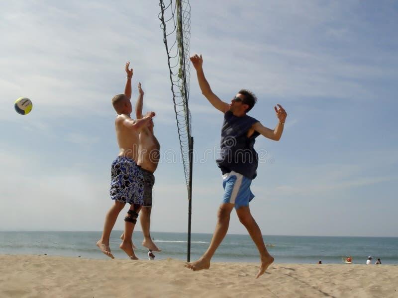 Voleibol da praia fotos de stock royalty free