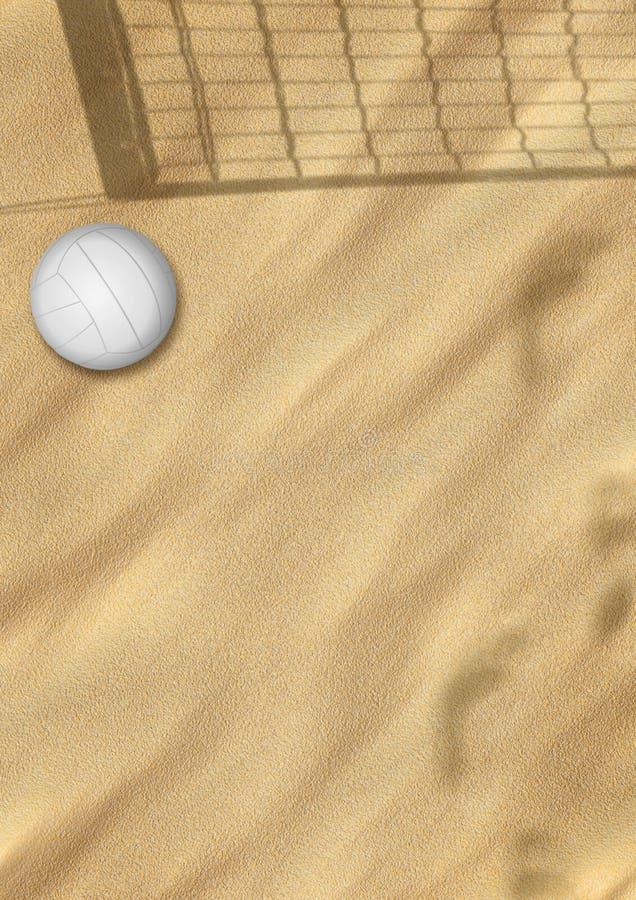Voleibol da praia na areia ilustração royalty free