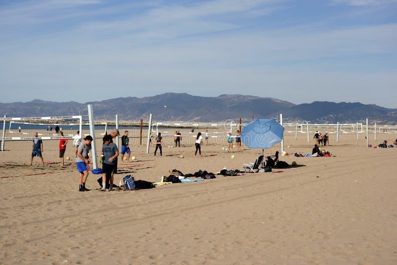 Voleibol de la playa fotos de archivo libres de regalías