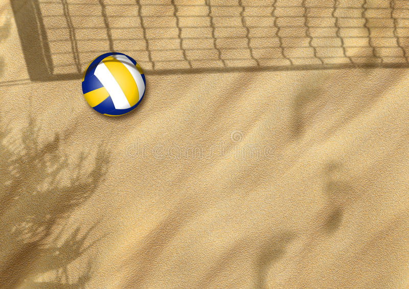 Voleibol de la playa en la arena libre illustration