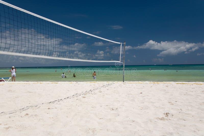Voleibol de México en red de la playa foto de archivo libre de regalías