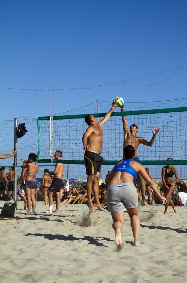 Voleibol de playa fotos de archivo