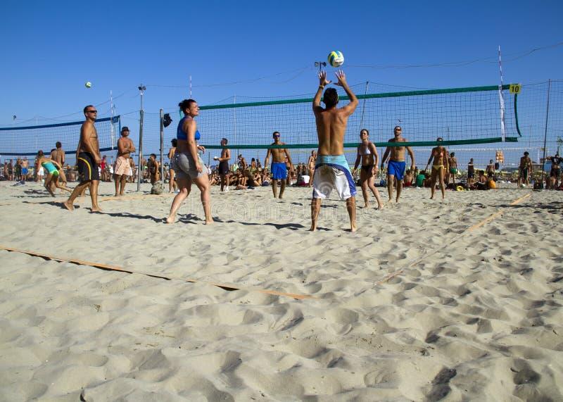 Voleibol de praia fotos de stock royalty free