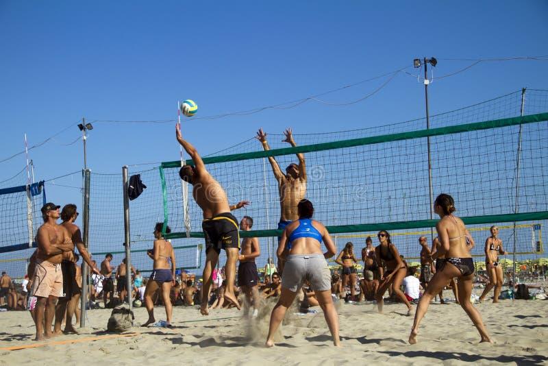 Voleibol de praia fotos de stock