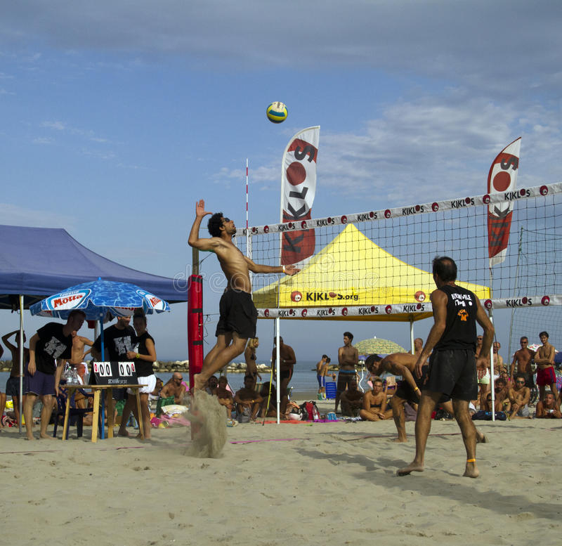 Voleibol de praia fotografia de stock royalty free