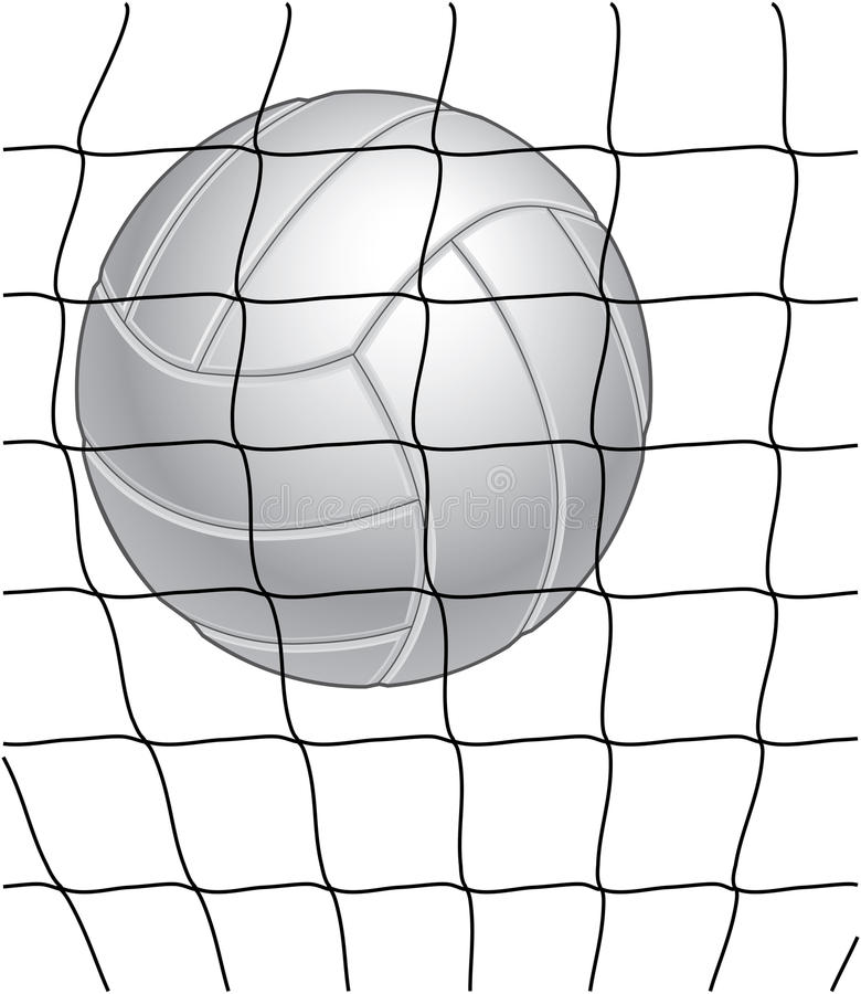 Voleibol e rede ilustração do vetor