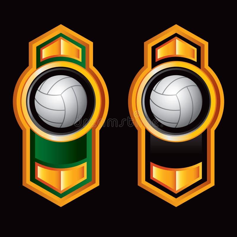 Voleibol em setas alaranjadas verticais ilustração do vetor