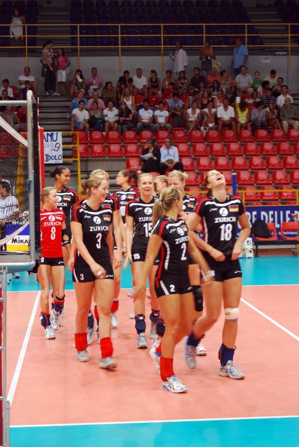 Voleibol: A equipe alemão foto de stock
