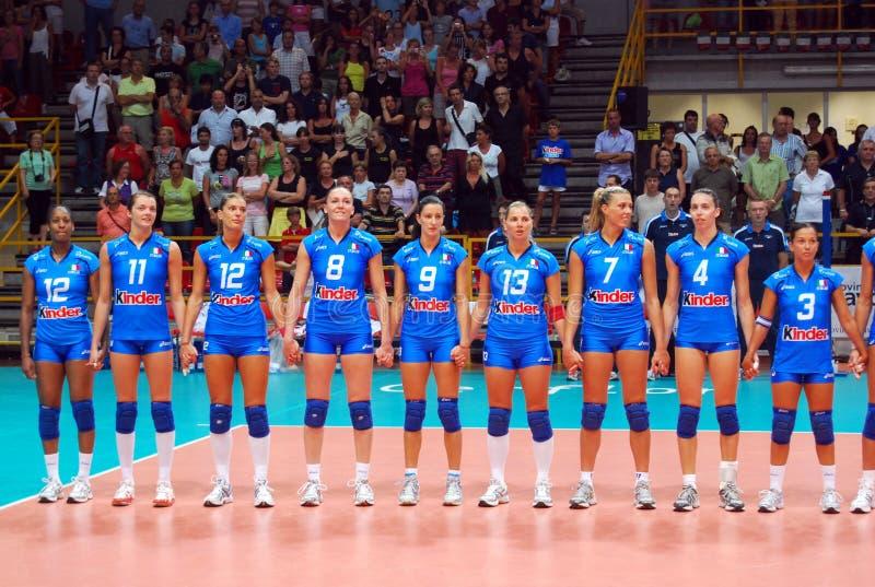 Voleibol: A equipe italiana foto de stock