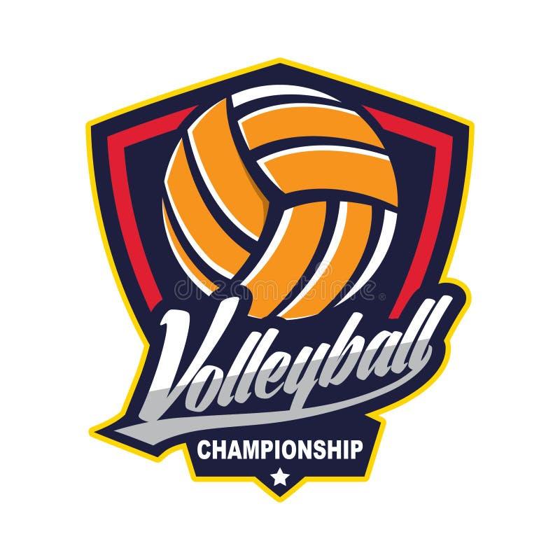 Voleibol Logo Badge, americano Logo Sport ilustração do vetor