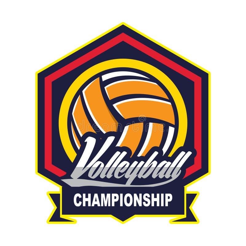 Voleibol Logo Badge, americano Logo Sport ilustração royalty free