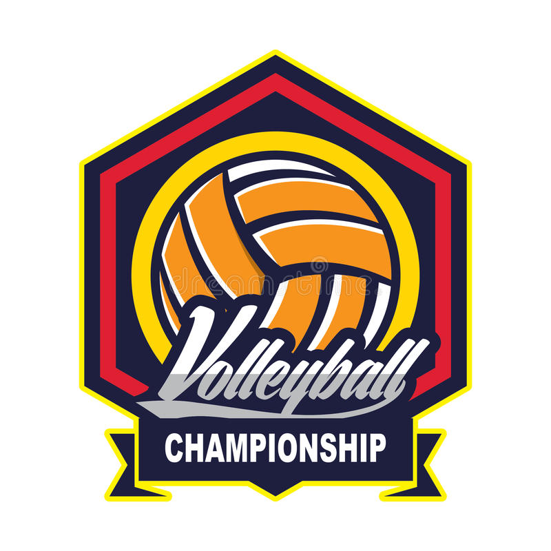 Voleibol Logo Badge, americano Logo Sport libre illustration