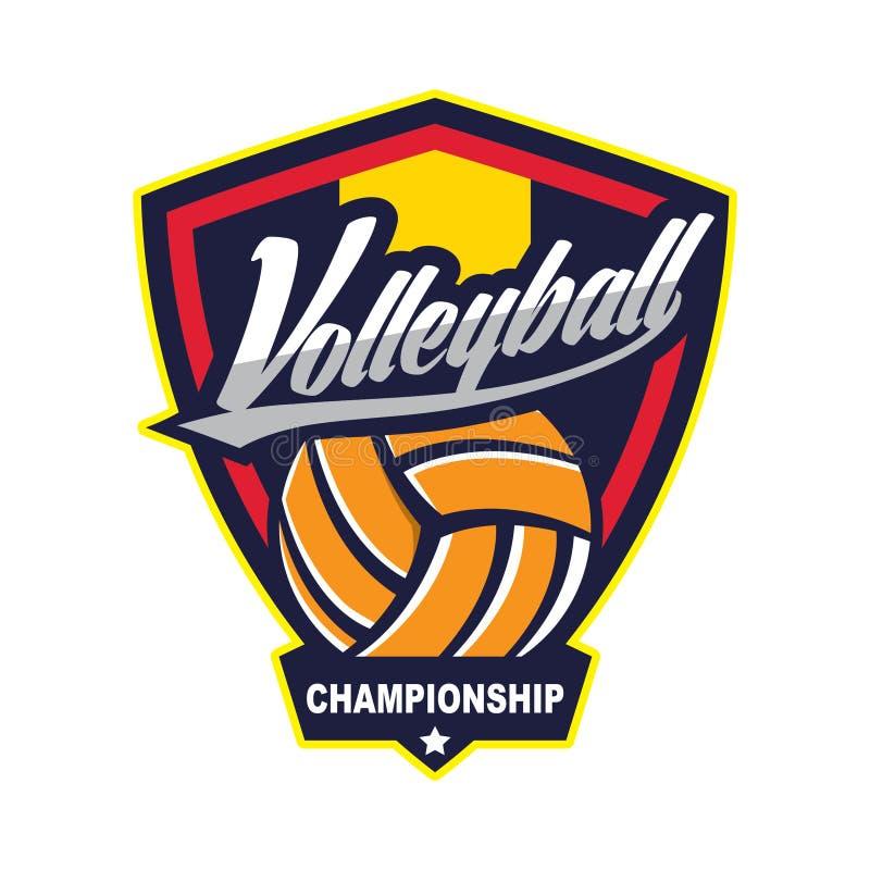 Voleibol Logo Badge, americano Logo Sport ilustración del vector