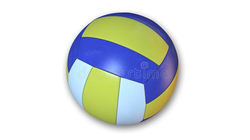 Voleibol, material desportivo isolado no branco, fim acima da vista ilustração stock