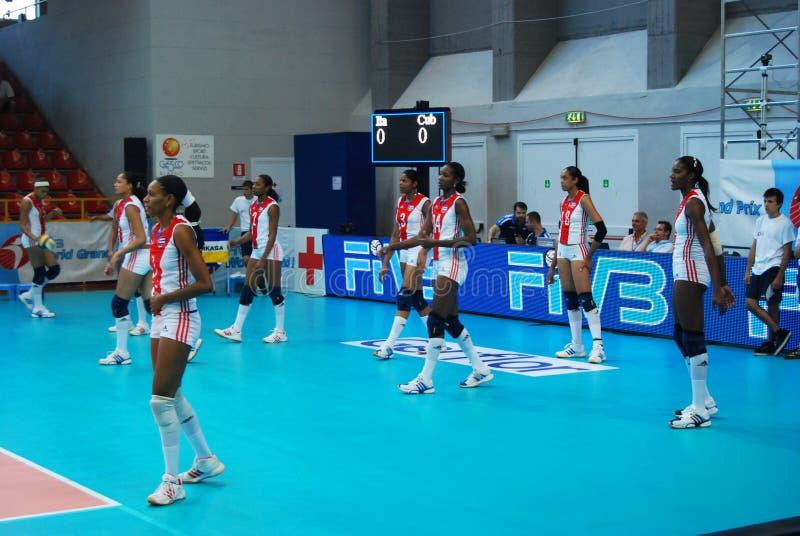 Voleibol: Mundo Prix grande imagem de stock