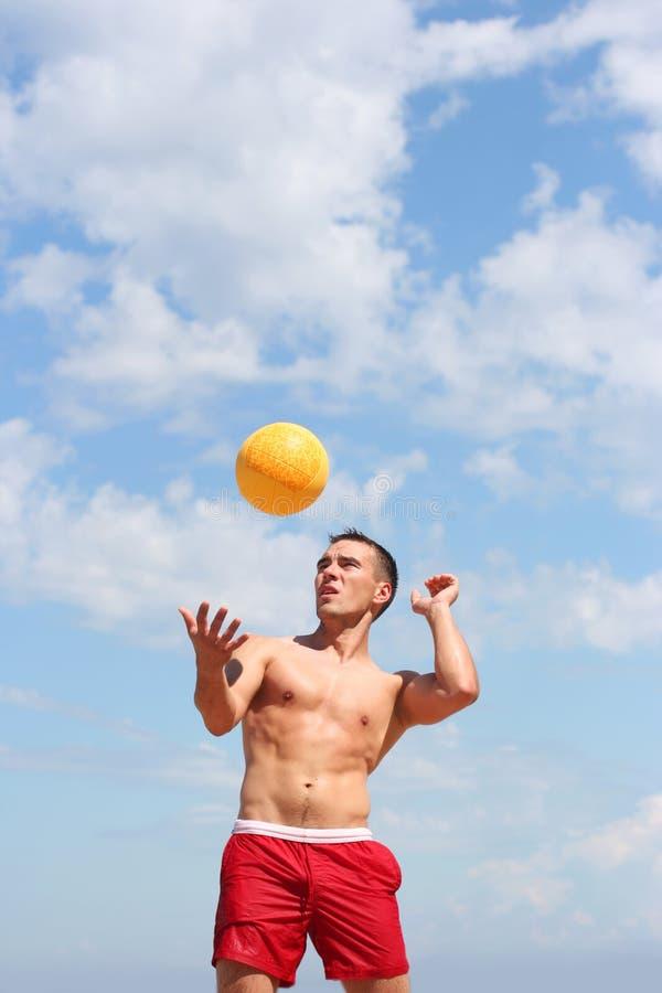 Voleibol na praia imagens de stock royalty free