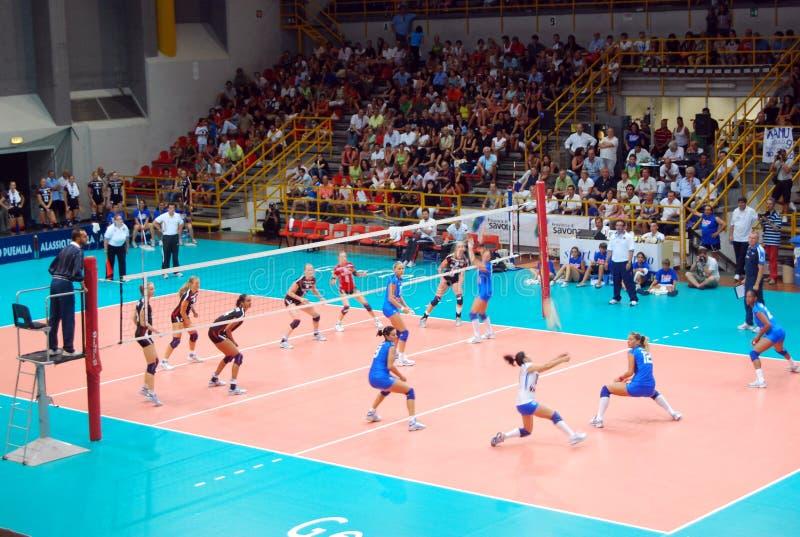 Voleibol: Test match de Preolympic foto de stock royalty free