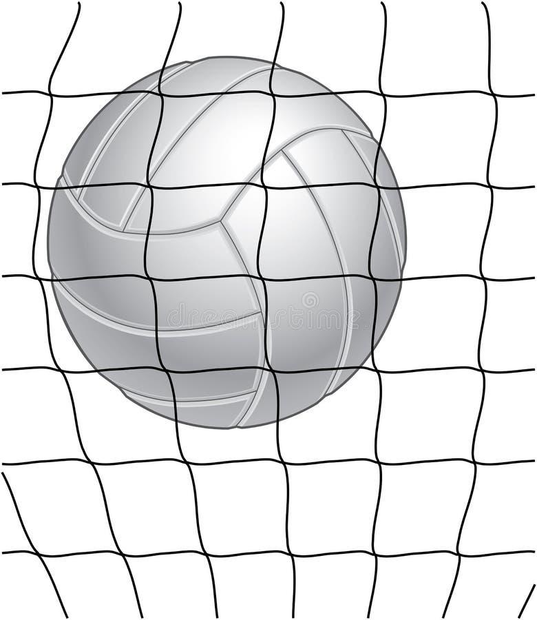 Voleibol y red ilustración del vector