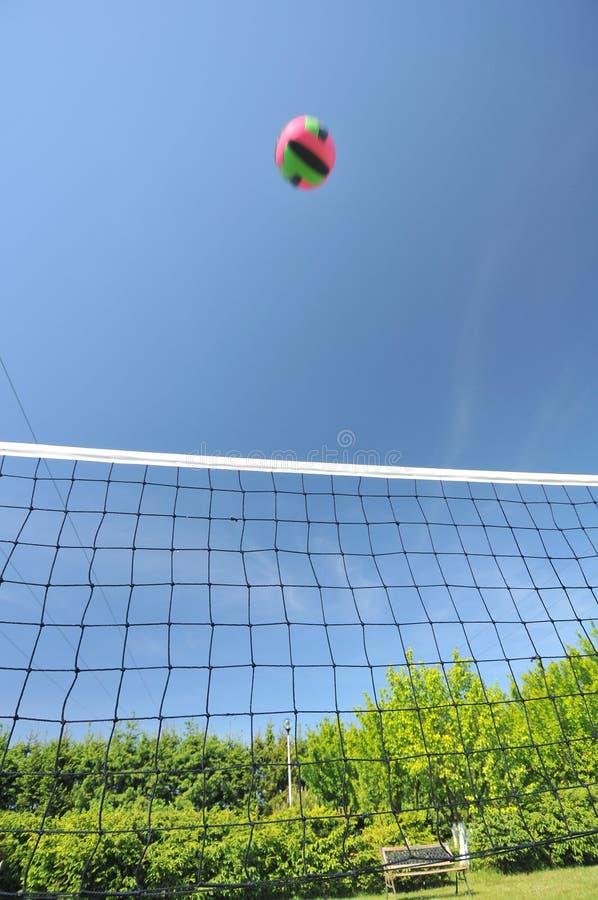 Voleibol y red foto de archivo libre de regalías