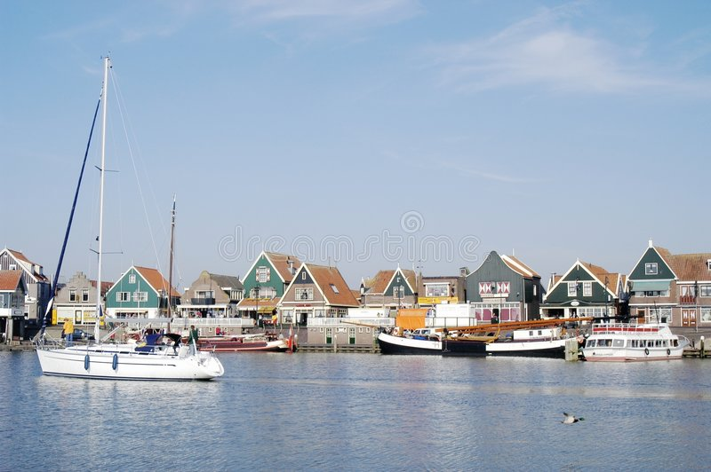 Volendam Harbour, Holland royalty free stock photo