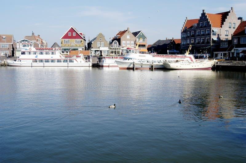 Volendam Harbour, Holland royalty free stock photo