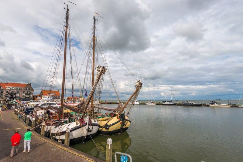 Volendam port , The Netherlands royalty free stock photography