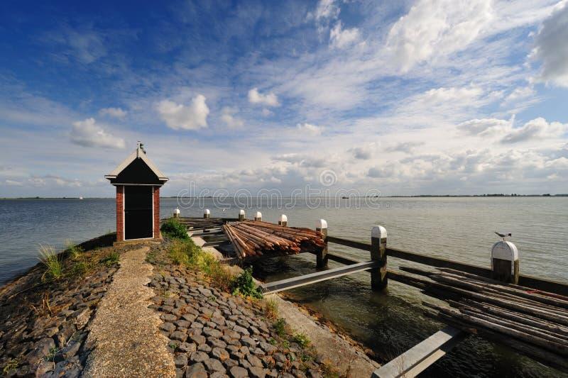 Volendam uma vila pequena nos Países Baixos imagens de stock royalty free