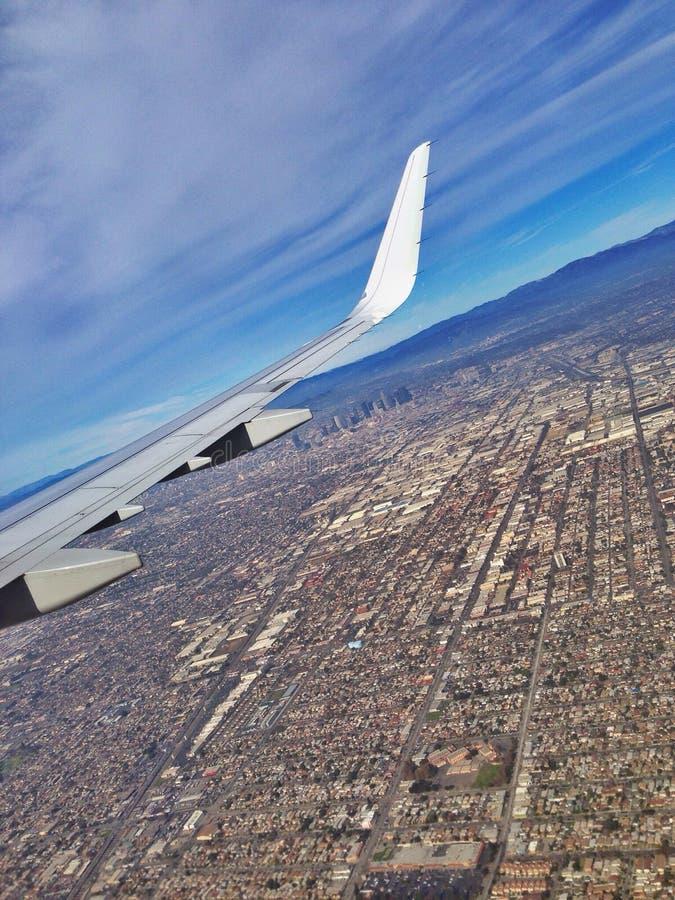 Voler au-dessus de la LA images stock