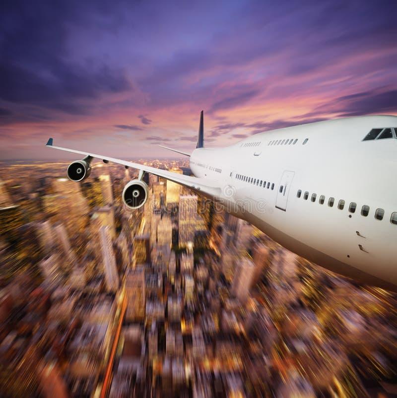 Voler au-dessus de NY photo libre de droits
