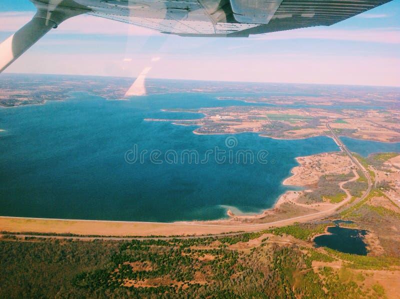 Voler au-dessus du Texas photo stock