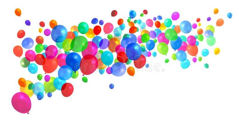 Voler coloré de ballons image libre de droits