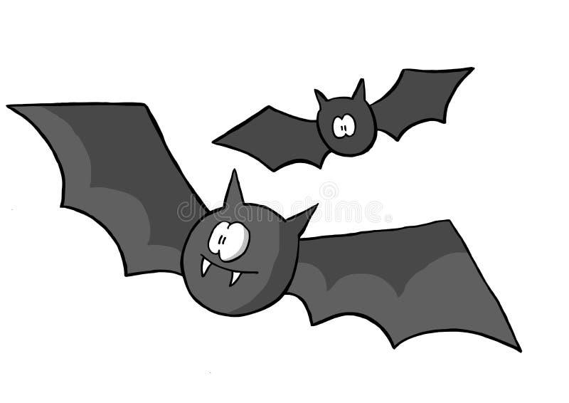 Voler de deux 'bat' illustration libre de droits