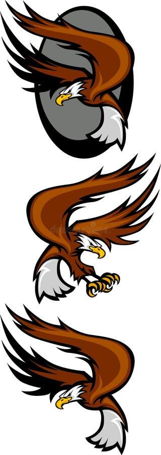 Voler de mascottes d'aigle illustration libre de droits