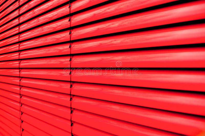 Volet rouge photographie stock