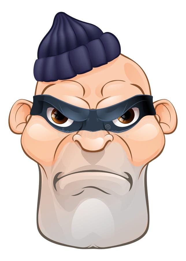Voleur ou cambrioleur Criminal Cartoon Character illustration de vecteur