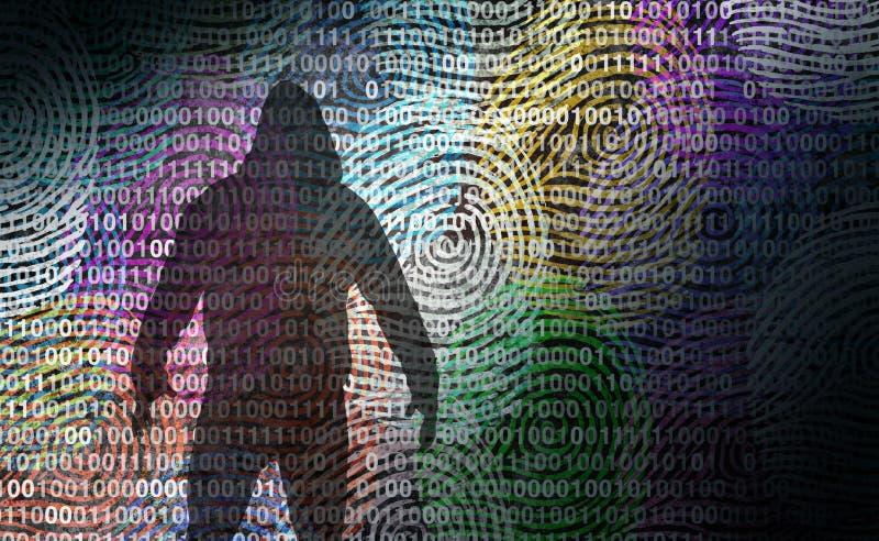 Voleur Technology Security d'identité illustration stock